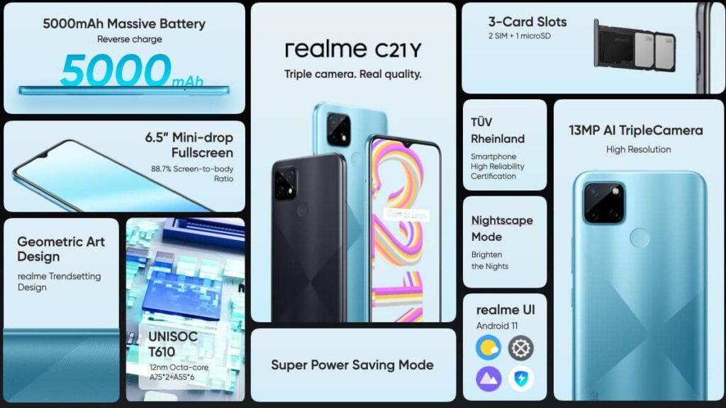 realme C21Y Brings Real Power, Real Quality With Unisoc T610