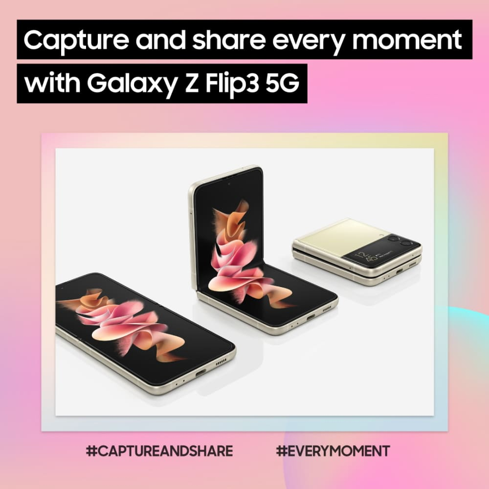 Make the Galaxy Z Flip3 5G Your Top Smartphone Choice for Capturing and Sharing Best Moments