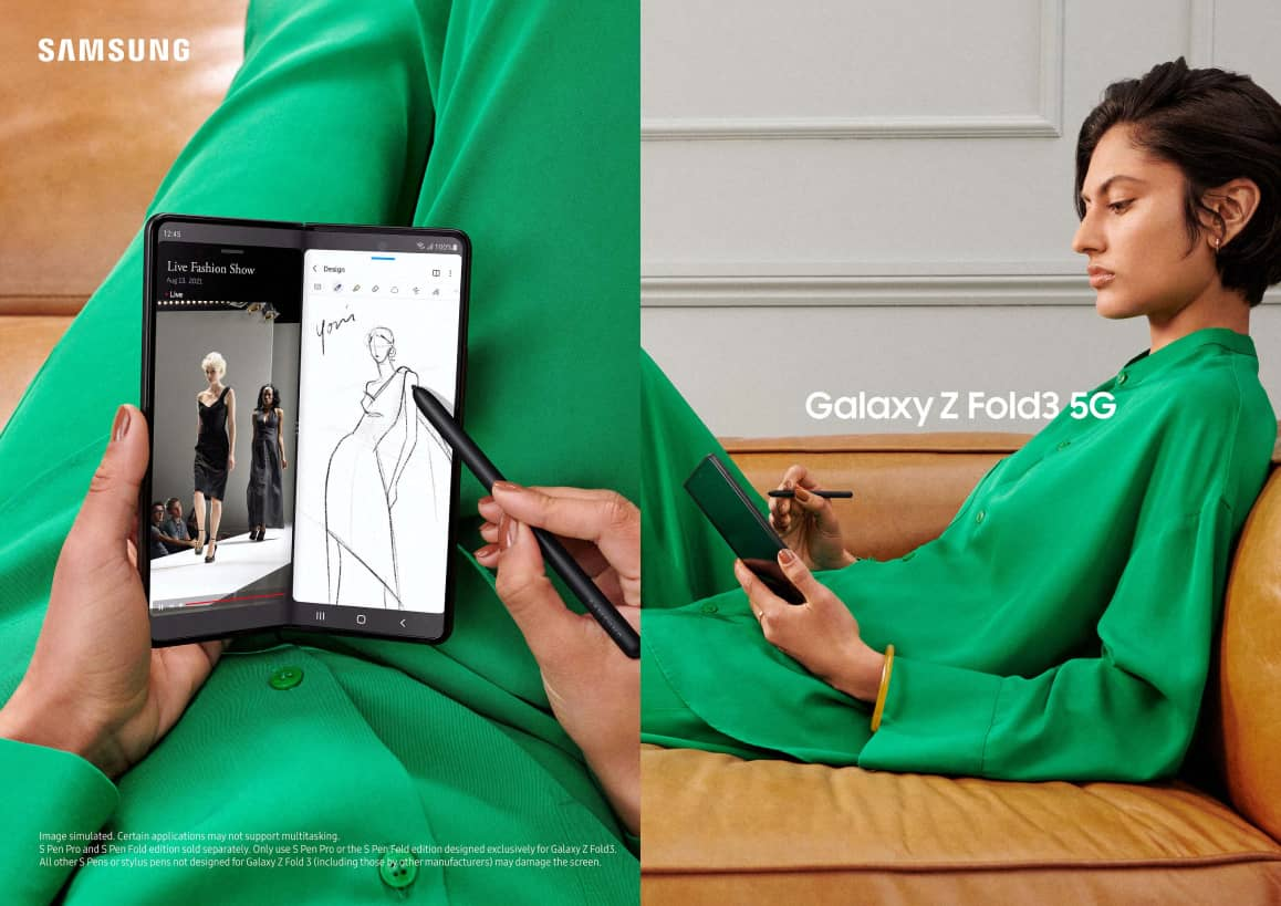 Bring out your inner Picasso with the Samsung Galaxy Z Fold3 5G