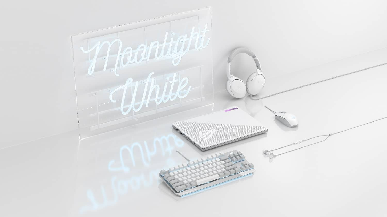 ASUS Republic of Gamers Announces Moonlight White Gaming Peripherals