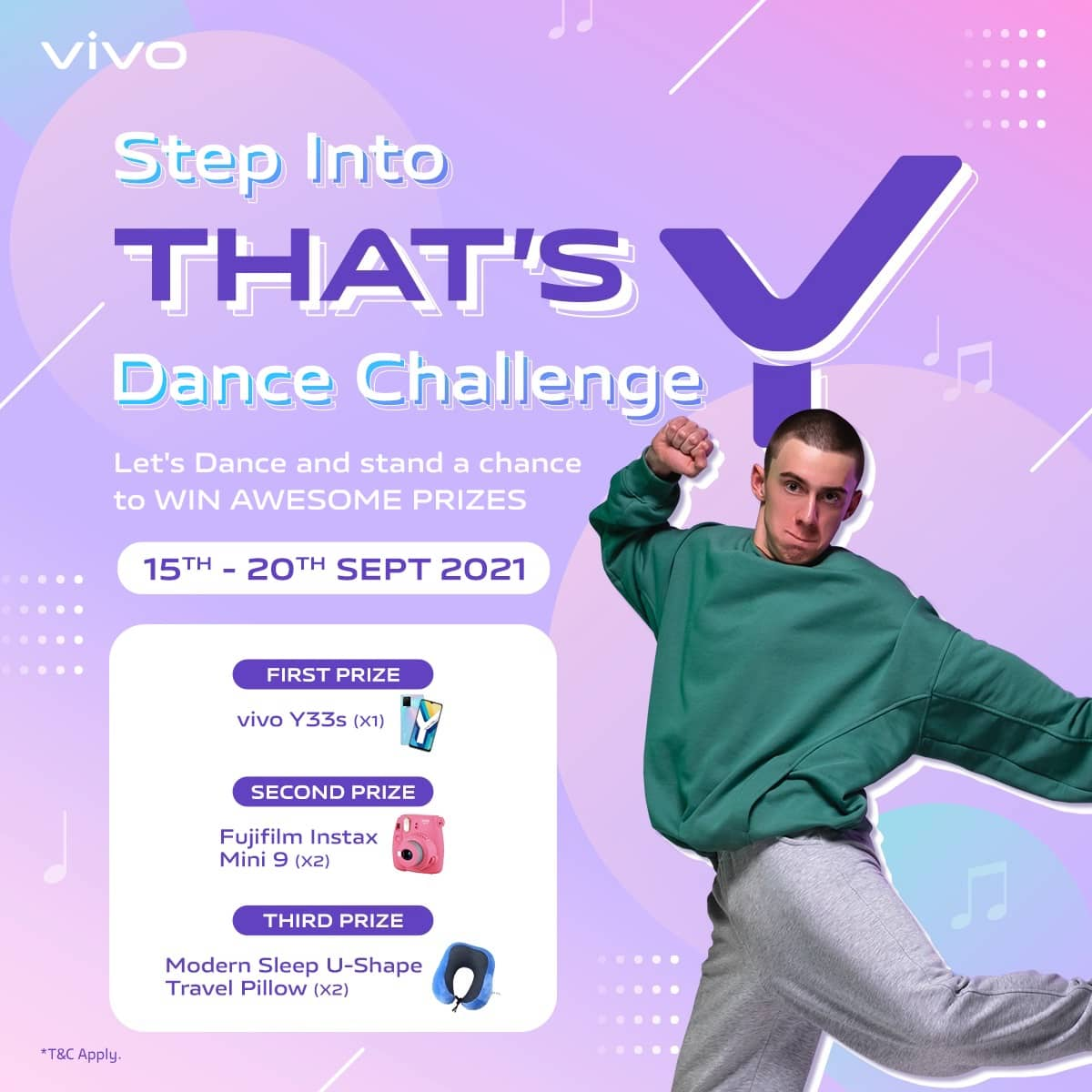 """Get ready to """"Step into That's Y"""" Dance Challenge and stand a chance to win the latest vivo Y33s smartphone"""