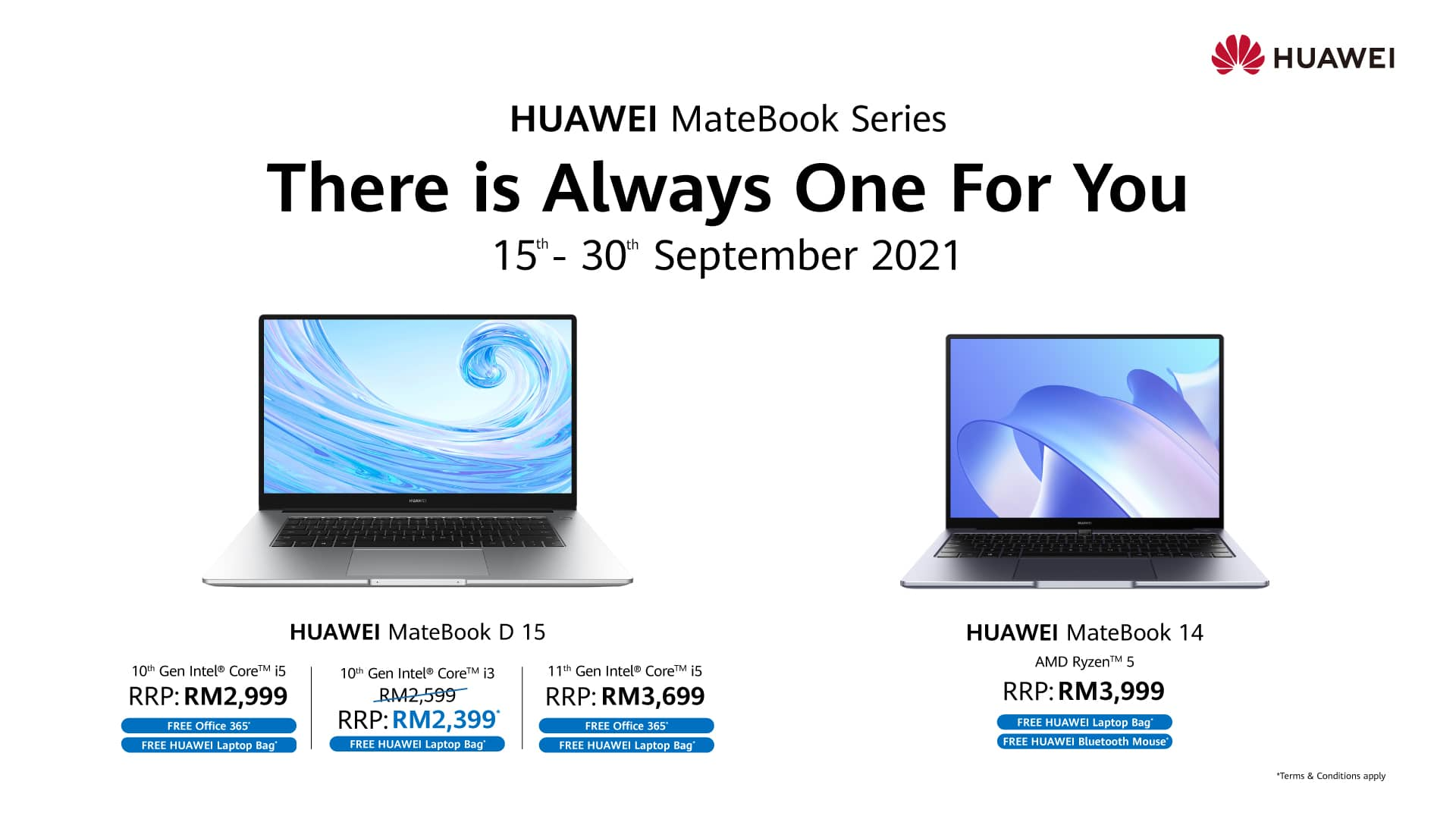 Experience Efficiency at its Finest With HUAWEI MateBook D15 i3, Priced at Only RM2,399