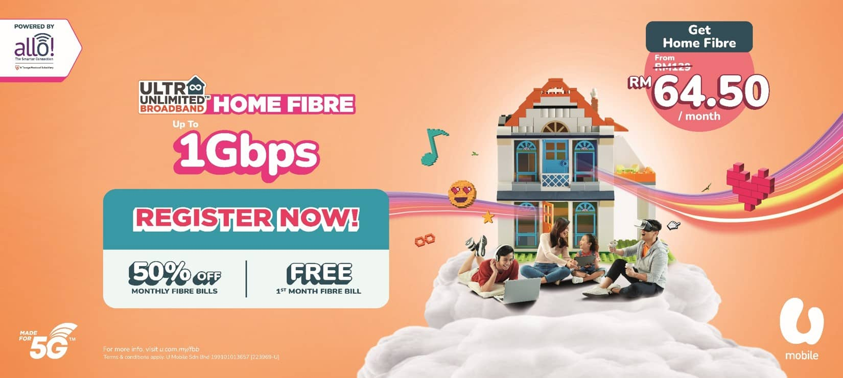 U Mobile Partners Allo to Expand its Unlimited Offering to High-Speed Fibre Broadband