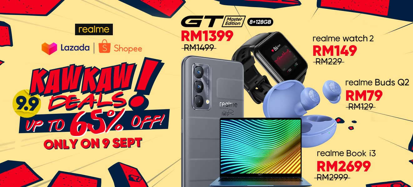 Grab Your realme GT Master Edition On This 9.9 Kaw Kaw Deals