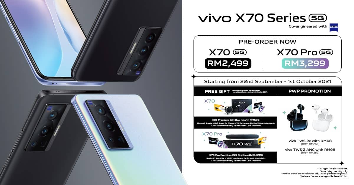 vivo's Flagship X70 Series and TWS 2 Series are Now Available in Malaysia