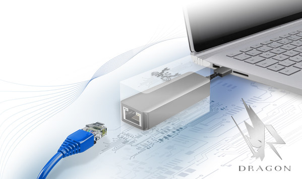 Fig. 4: Realtek USB to 2.5Gb Ethernet card that support Dragon bandwidth control software