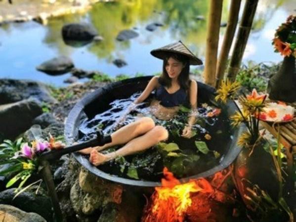 Kawa bath in Calawag Mountain Resort in Antique